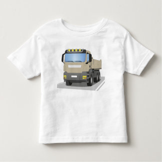 grey building sites truck toddler t-shirt