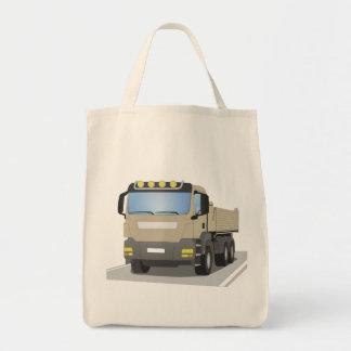 grey building sites truck tote bag