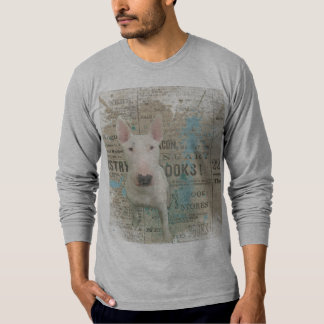 Grey Bull Terrier Newsprint Sweatshirt