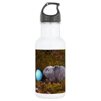 Grey Bunny, Blue Golf Ball Water Bottle