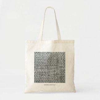 Grey Burlap Tote Bag