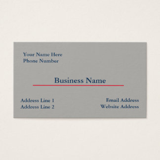 Grey Business Card Template