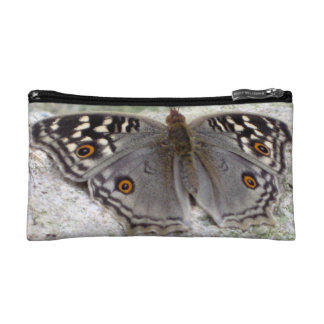 Grey Butterfly Colour Image - Small Cosmetic Bag