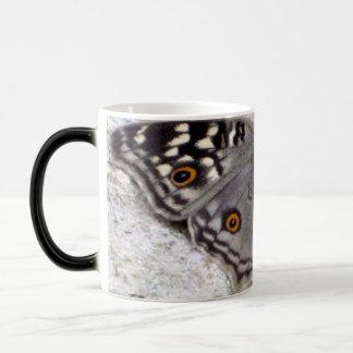 Grey Butterfly Image - Black & White Morphing Mug