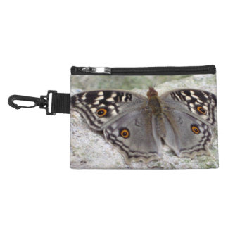 Grey Butterfly Image - Clip On Accessory Bag