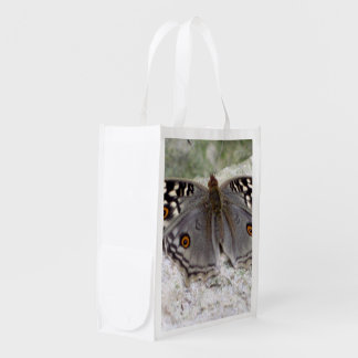 Grey Butterfly Image - Reusable Grocery Bag