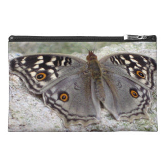 Grey Butterfly Image - Travel Accessory Bag