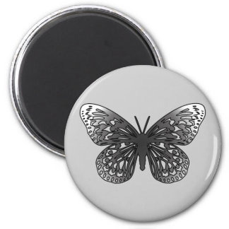 Grey Butterfly Magnet
