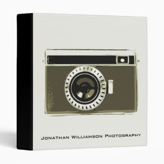 Grey Camera Photography Business Binder