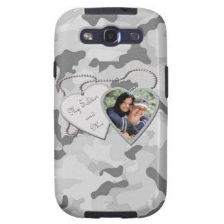 Grey Camo My Soldier & Me Custom Photo Samsung Samsung Galaxy S3 Cases