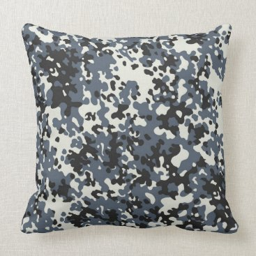 Grey Camo Pattern Pillow