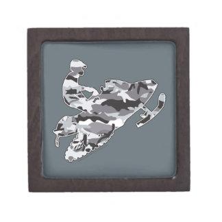 Grey Camoflage Snowmobiler Jewelry Box