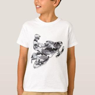 Grey Camoflage Snowmobiler T-Shirt