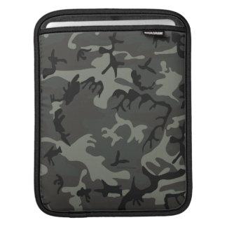 Grey camouflage iPad Sleeve