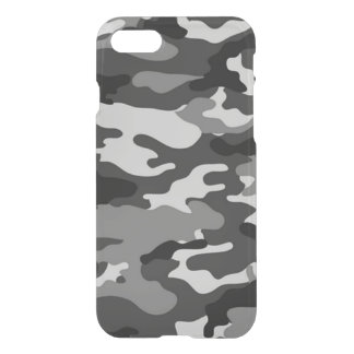 Grey camouflage iPhone 7 Deflector Case