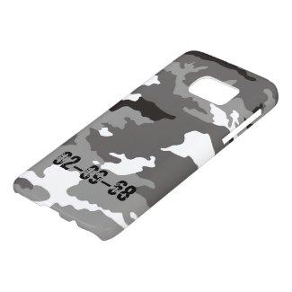 Grey Camouflage Pattern Samsung Galaxy S7 Case