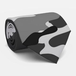 Grey Camouflage Pattern Tie