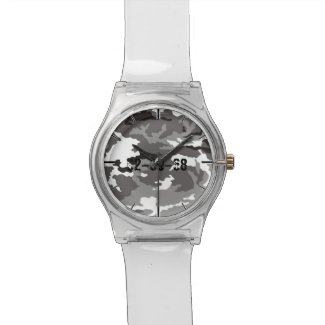 Grey Camouflage Pattern Watch