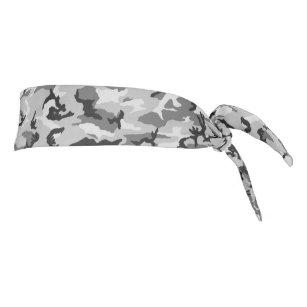 Grey Camouflage Patterned Tie Headband
