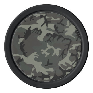 Grey camouflage Poker Chips