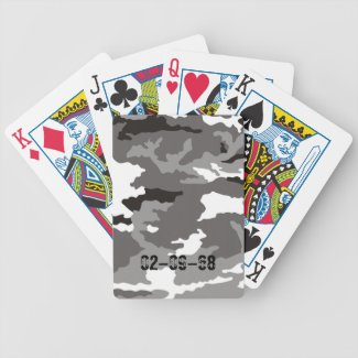 Grey Camouflage sample Bicycle Card Deck