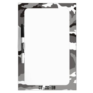 Grey Camouflage sample Dry-Erase Whiteboards