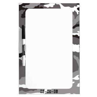 Grey Camouflage sample Dry-Erase Whiteboards