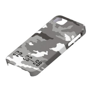 Grey Camouflage sample iPhone 5 Covers