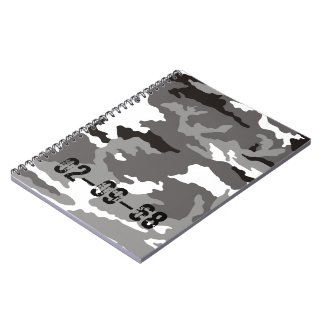 Grey Camouflage sample Journals