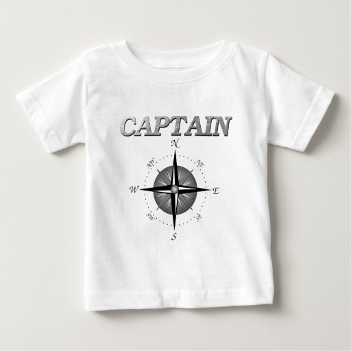 Grey Captain with Compass Rose Infant T-shirt
