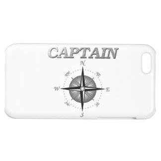 Grey Captain with Compass Rose iPhone 5C Case