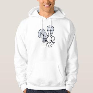Grey Cartoon House Fly Hoodie