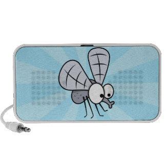 Grey Cartoon House Fly Notebook Speaker