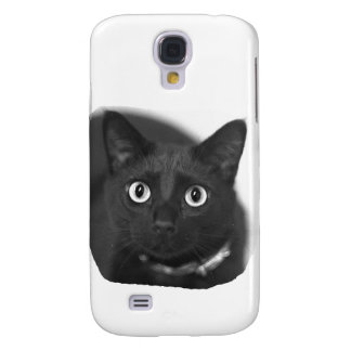 Grey Cat Big Eyes BW Picture Galaxy S4 Cover