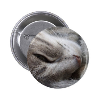 Grey Cat Button