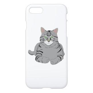 Grey cat cartoon iPhone 7 case