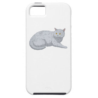 Grey Cat iPhone 5 Covers