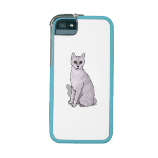 Grey Cat Case For iPhone 5