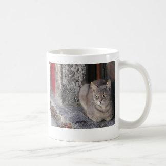Grey Cat Coffee Mug