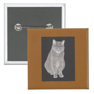 Grey Cat Flair Button