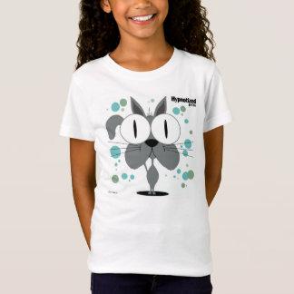 Grey Cat Girls' Bella Fitted Babydoll T-Shirt