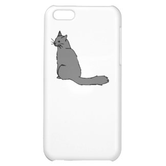 Grey Cat Cover For iPhone 5C
