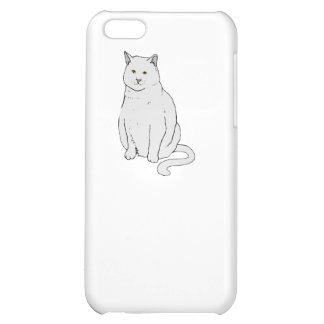 Grey Cat iPhone 5C Cover