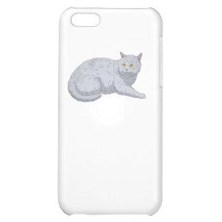Grey Cat iPhone 5C Covers