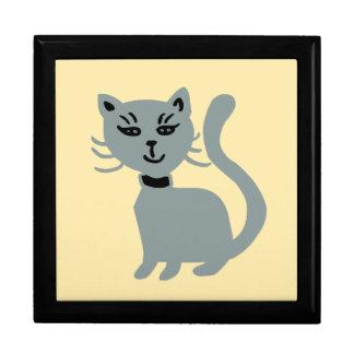 Grey Cat Jewelry Box