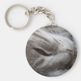Grey Cat Keychain