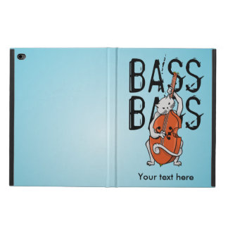 Grey Cat Playing a Double Bass or Cello Powis iPad Air 2 Case