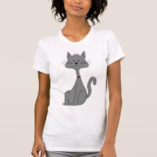 Grey Cat Sitting T-Shirt