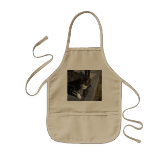 Grey Cat Stalking Kids' Apron