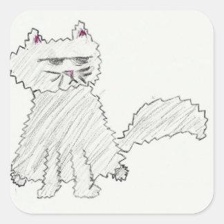 Grey cat Sticker